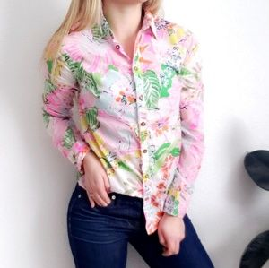 Lilly Pulitzer Floral Botanical Button Down Shirt